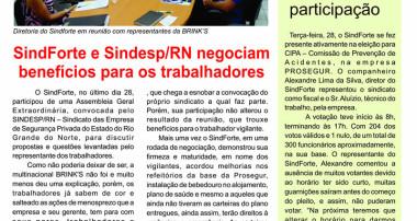 SuindForte e Sindesp/RN negociam benefícios para os trrabalhadores