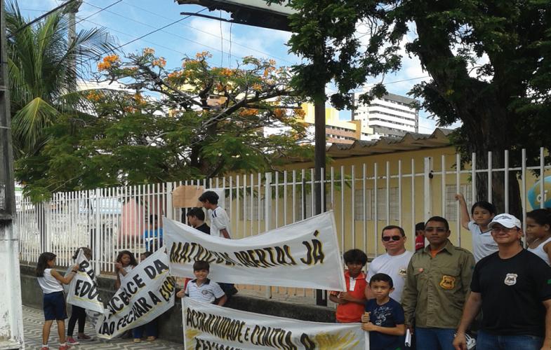 Sindforte contra o fechamento da Escola Estadual Manoel Dantas