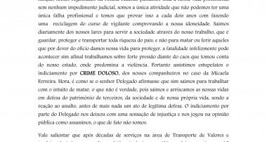 DECISÃO DE DELEGADO, NÃO CONDIZ COM A REALIDADE DOS VIGILANTES