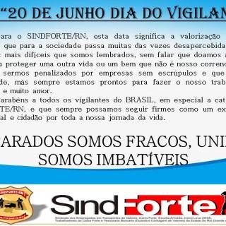 20 DE JUNHO, DIA NACIONAL DO VIGILANTE